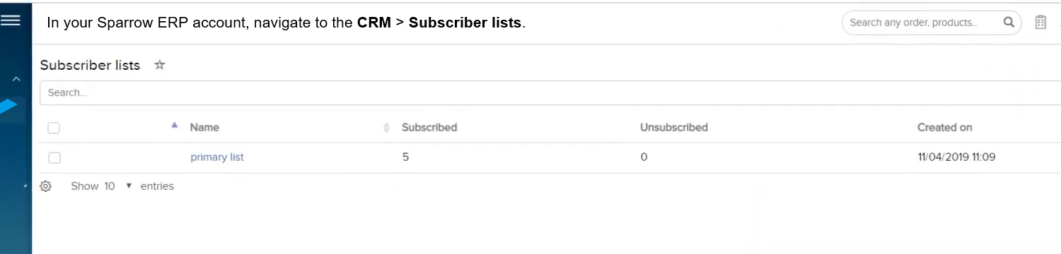 CRM Subscriber-lists