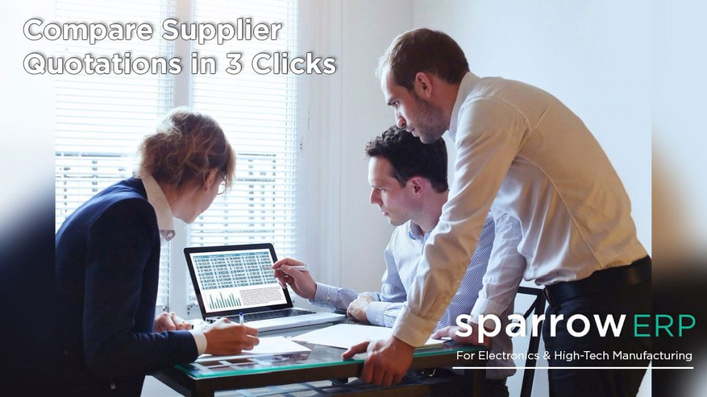 supplier quotations comparison Sparrow ERP
